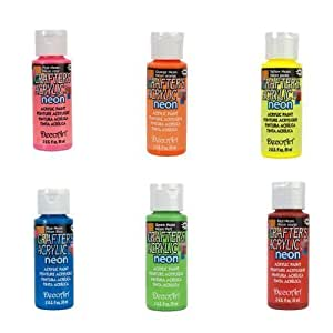 Assorted Paint Set (6 Colors) Neon Colors