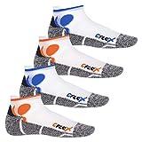 a59092182c CFLEX - 4 paia di calze da corsa/scarpe da ginnastica originali - bianco/
