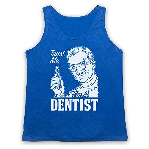 Trust Me I'm A Dentist Funny Work Slogan Tank-Top Weste Blau