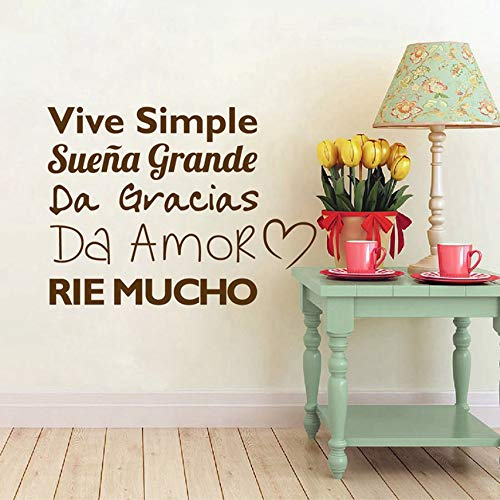 WWYJN Spanish Wall Sticker Children Room Decor, Spanish Vinyl Quote Wall Decal Sticker Kids Room Art Decoration White 40cm x 30cm