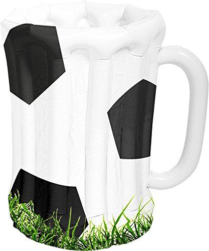 Folat 30607 Aufblasbarer Bierkrug Fußball Schwarz-Weiβ