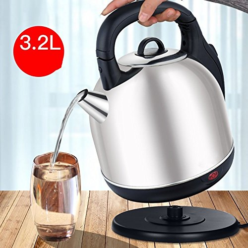 GPC Stainless Steel Electric Kettle Household Teapot Large Capacity Kettle 3.2Lwhite Color Electric Kettles