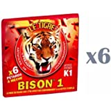 Lot de 6 Paquets de 6 pétards Bison 1 - K1