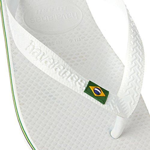 Havaianas Brasil Infradito, Unisex-Adulto White