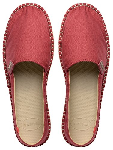 Hav Havaianas Unisex Schuhe Damen und Herren Origine Modischer Espadrilles mit Gummisohle Plus Praktischer Kleingeldbörse für Den Strand Marsala