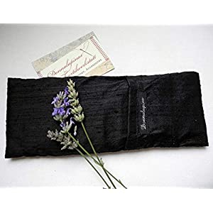 Augenkissen.Seide.Bio Amaranth mit Lavendel oder Minze.Farbwahl