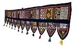GESCHENKE Mango Ethnic Indian Home Decorative Patchwork & Stickerei Work Überwurf Door Hanging Wandteppich, 198,1x 33cm (blau)
