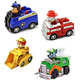 #3: Paw Patrol Racers 4-Pack Vehicle Set, Rescue Marshall, Spy Chase Skye, Rubble & Rocky