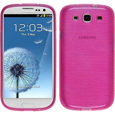 Funda de silicona para Samsung Galaxy S3 Neo - brushed rosa caldo - Cover PhoneNatic Cubierta + protector de