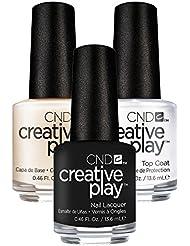 CND Creative Play Black Forth Nr. 451 13,5 ml mit Creative Play Base Coat 13,5 ml und Top Coat 13,5 ml, 1er Pack (1 x 0.041 l)