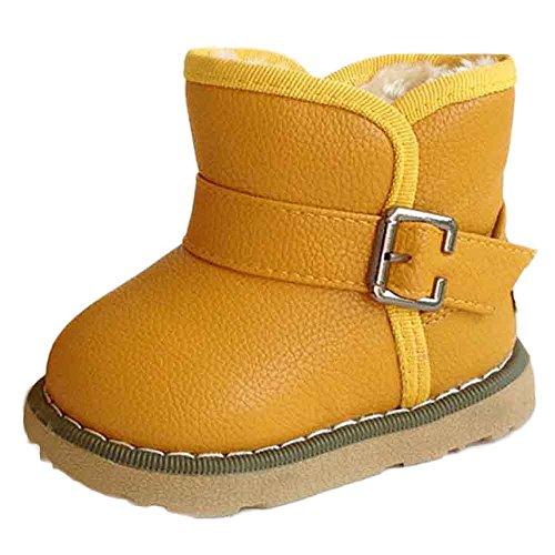Schuhe 28m Baumwolle Jungen Red Kind Gelb alter Winter Watermelon 24 Baby Stiefel Martin Warme Lederschuhe Hunpta Mädchen OvUqAU