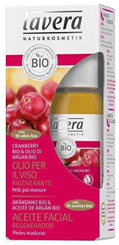 Foto de Lavera Aceite Facial Regenerador - Con 10 aceites bio - Arándano bio & Aceite de argán bio - vegano - cuidado facial biológico - cosméticos naturales 100% certificados - 30 ml