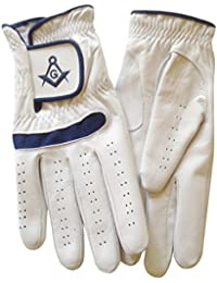 Gloves4Masons Real Leather Golf Glove with Masonic symbol SC&G - Left or Right Hand