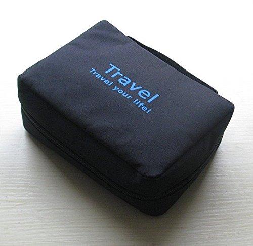 NOVAGO Kulturtasche Toiletbag Traveling Toiletbag - Grün Schwarz