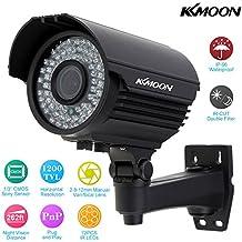 KKmoon Cámara Bala de Vigilancia (1200TVL, CCTV 1/3