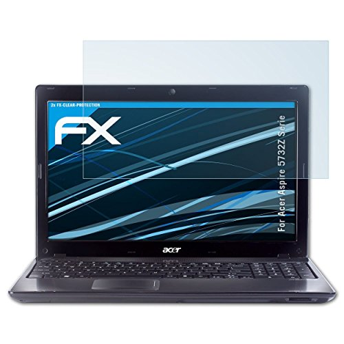 atFolix Schutzfolie kompatibel mit Acer Aspire 5732Z Serie Folie, ultraklare FX Displayschutzfolie (2X) (Laptop Acer 5732z Aspire)