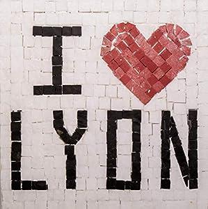 Trois petits points Kit de Mosaico Completo de Tres Puntos, Modelo Love Lyon-Geant+, 6192459601373, Universal