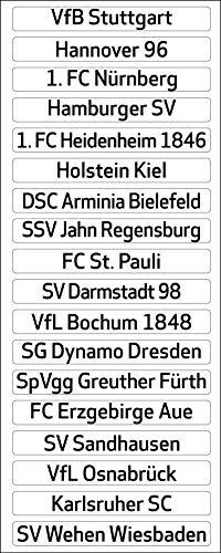 DFL Deutsche Fussball Liga 2. Bundesliga Magnettabelle - Clubnamen (Saison 2019-2020)