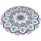 Toallas de playa Sannysis Boho Textiles de baño Round Hippie Tapestry Beach Yoga Mat (B)