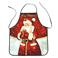 KaloryWee 2018 Sale Christmas Decoration Waterproof Apron Christmas Dinner Party Apron