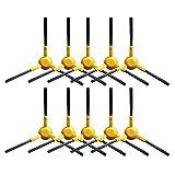 Cleando (Pack 10) 3-armig Nylon Ersatz UFO Seite Pinsel für Staubsauger-Roboter Deebot N78M85M88M80Pro A38R95SLIM2Robotic Staubsauger