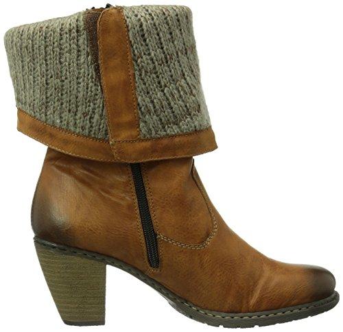 Rieker Z1571-23, Boots femme Marron (Cayenne/Stein/23)