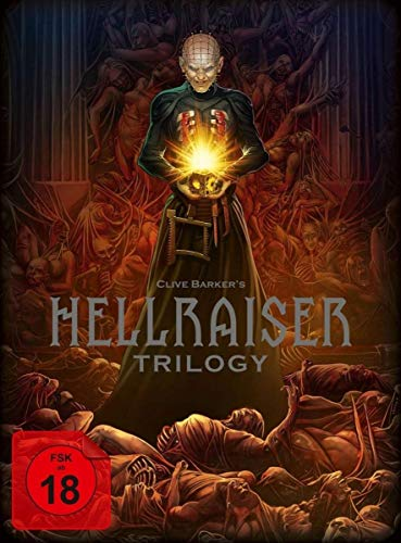 Hellraiser Trilogy Blu-ray-Deluxe-Box - Limited Edition Blu-ray-Set (5 Discs im Digipack + Buch im Hartkarton) (Blu-Ray) Uncut-box