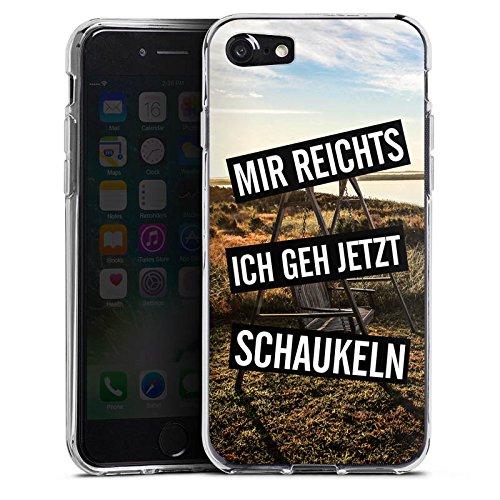Apple iPhone X Silikon Hülle Case Schutzhülle Humor Leben Kindisch Silikon Case transparent