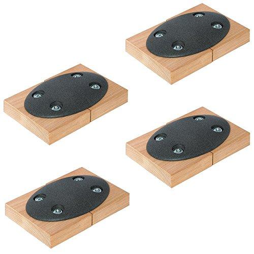 Holzverbinder Tischplatten-Verbinder Metall zum Anschrauben CONNECT einteilig | Tischverbinder zum Schrauben | Möbelverbinder mit Bauhöhe: 9 mm | 4 Stück