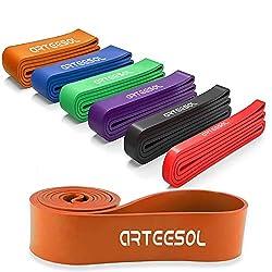 arteesol Fitnessbänder, Resistance Band Set, Gymnastikband, Widerstandsband, Loop Bänder für Krafttraining, Crossfit, Powerlifting,anderes Fitnesstraining