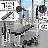 Physionics HNTLB02-SET1 Panca Fitness con manubri pesi e bilanciere