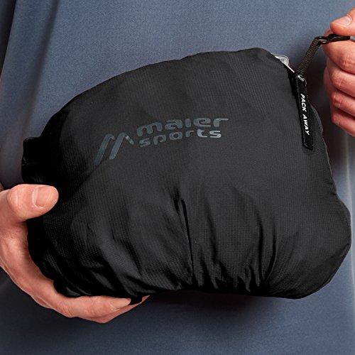 Maier Sports leichte Funktionsjacke schwarz Übergröße Schwarz