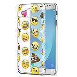 Eouine Coque Samsung Galaxy J3 2017, Etui en Silicone Transparente avec Motif...