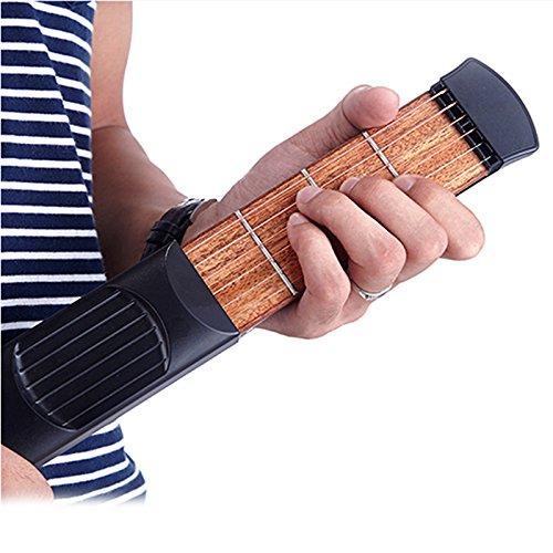 Imagen de lzndeal portable pocket piezas de  acústica gadget chord trainer 6 cuerda 6 fret practicar herramientas de modelo para principiantes