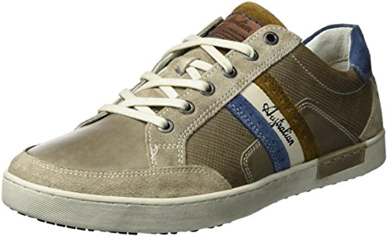 Australian Herren Lombardo Leather Sneakers  Billig und erschwinglich Im Verkauf