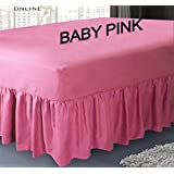 Sábana bajera ajustable cubre canapé de polialgodón para cama, sábana por Mas International Ltd, algodón poliéster, rosa pastel, suelto
