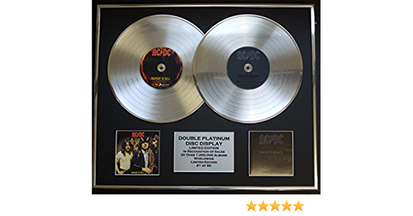 Ac Dc Double Platinum Record Display Limited Edition Coa Highway To Hell Back In Black Küche Haushalt