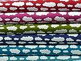 Jersey Wolken Verena dunkelblau von Swafing Öko-Tex
