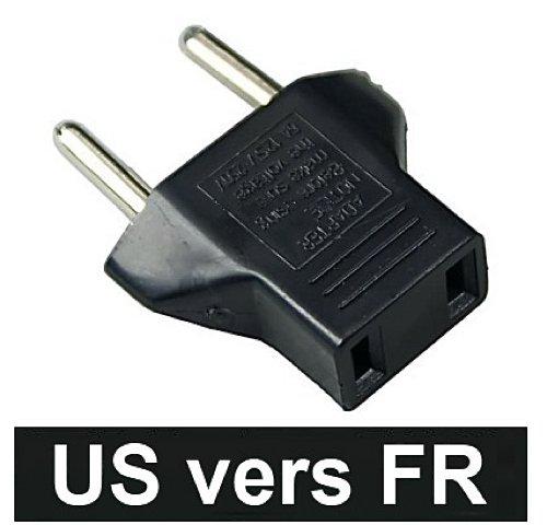 Lot 5 Adaptateur prise secteur USA US Chine Canada vers FR France BE Belgique EU