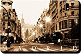 Artimagen Imán Gran Vía Madrid Sepia 70x45 mm.