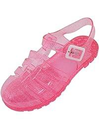 Huhua-Baby Sandal Sandals for Boys, Sandali Bambine Rosa Hot rosa, Nero (Nero), 35 EU