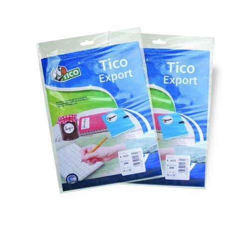 Tico E-5519 - Pack de 10 hojas de etiquetas adhesivas, color blanco