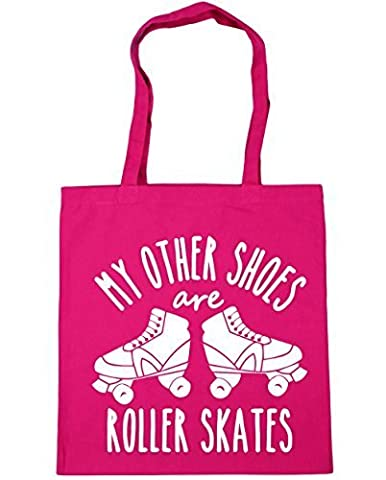 HippoWarehouse My other shoes are roller skates Tote Shopping Gym Beach Bag 42cm x38cm, 10 litres