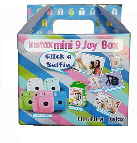 Fujifilm Instax Mini 9 Joy Box Cobalt Blue Point & Shoot Film Cameras at amazon