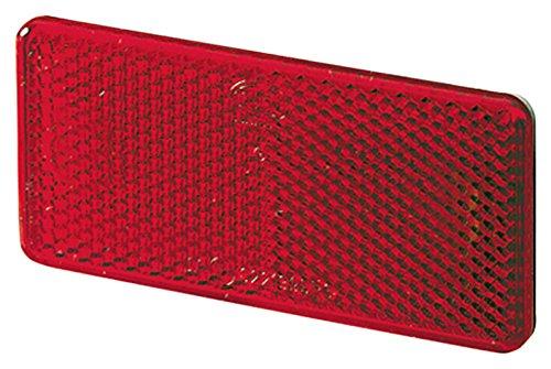 HELLA 8RA 003 326-931 Rückstrahler, KFZ Rückstrahllicht,  Einfunktionsleuchte, selbstklebend Lichtscheibenfarbe rot, Set 2 Stück, Klarsichtverpackung