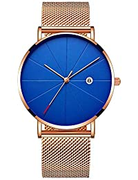 FLLLHHL Reloj de señora Reloj de Tendencia de Moda Reloj de Pulsera de Cuarzo Ultra Fino cinturón Neto, Todo el…