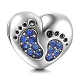 Sandcastle Charm  -  925 Sterling-Silber  Sterling-Silber 925 Rundschliff   blau Oxyde de Zirconium