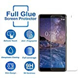Tempered Glass for Nokia 7 Plus,Premium Oil Resistant Coated Tempered Glass Screen Protector Film Guard for Nokia 7 Plus