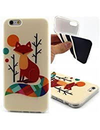 Uming® Motif imprimé coloré de cas de TPU souple [ pour IPhone 6 6G IPhone6 ] Colorful Pattern Print Coque de protection Coque de téléphone portable Case Cover - Fox eyes closed