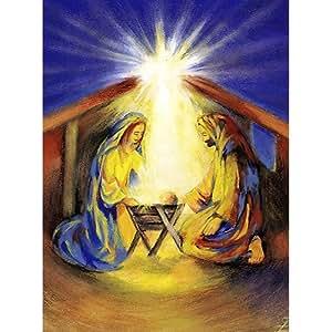 Weihnachtskarten religi se motive din a6 10er pack das wunder im stall christliche gru karte - Weihnachtskarten amazon ...